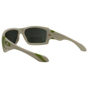 0bf20e65b44 Oakley Big Taco Sunglasses OO9173-07 Matte Bone Dark Grey Lens